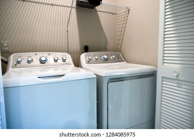 HANOVER, MD, USA - MARCH 21, 2018: Laundry room appliances.