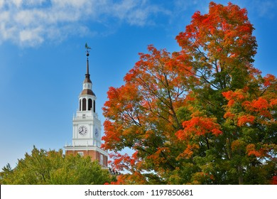 Hanover, New Hampshire USA - October 6, 2018: Baker-Berry Library on campus of Dartmouth College. Dartmouth College is a private Ivy League research university in Hanover, New Hampshire.