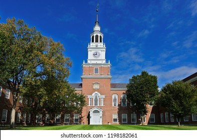 Hanover, New Hampshire USA - October 6, 2018: The Baker-Berry Library on the campus of Dartmouth College. Dartmouth College is a private Ivy League research university in Hanover, New Hampshire