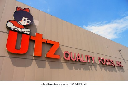 HANOVER, PA - AUGUST 11, 2015:  Editorial image of the utz factory in Hanover, PA. Utz distributes potato chips and other snacks in the United States.