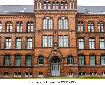 Hans-Christian-Haus on top of the Museum hill in Flensburg, Germany in Europe - Shutterstock ID 2003347835
