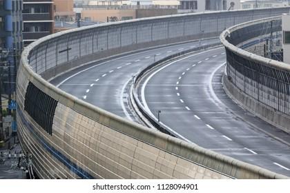 Hanshin Expressway closed to vehicles due to heavy rains in northern Osaka