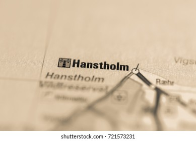Hanstholm on map.