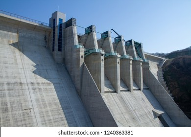 Hantangang River Dam, South Korea.