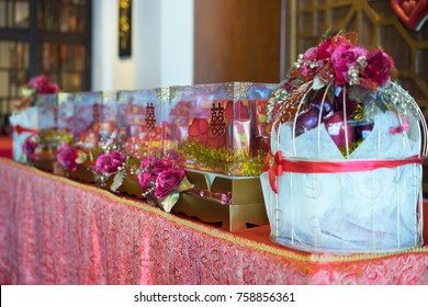 Hantaran, seserahan, gift proposal package for engagement married with double happiness shuang xi