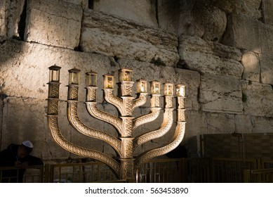 Hanukkah celebrations in Jerusalem, Israel