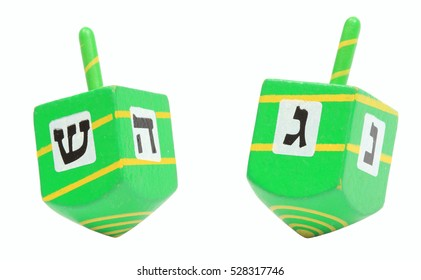 Hanukkah Dreidel, isolated with clipping path