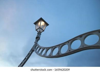 The Ha'penny bridge in Dublin City, Ireland