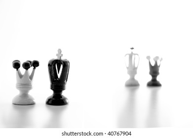 Happening weird things on a bizarre chessboard