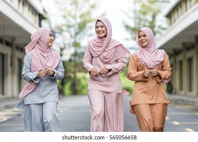 Happiness concept of young, friendly and smiling confident Muslims female.