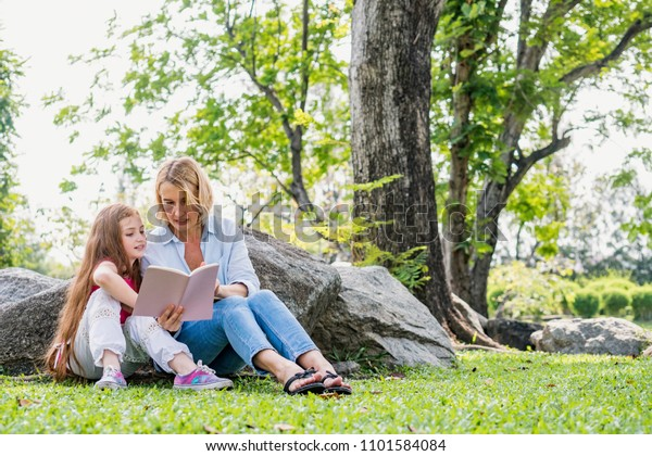 Happiness Family Read Book Relax Weekend Stock Photo Edit