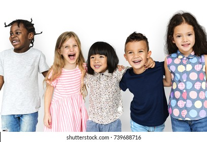 Happiness group of cute and adorable children