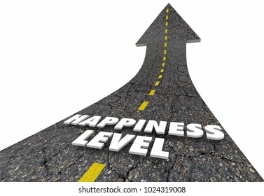 Happiness Level Road Satisfaction Rating 3d Illustration
