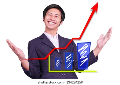 Happiness men  is successful graph up