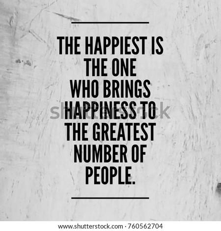 Happiness Quote Happy Positive Life Stock Photo Edit Now 760562704