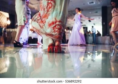 The happinest guests dancing on the dancefloor