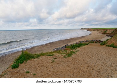 Happisburgh beach in Norfolk on a summer evening.