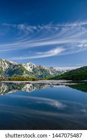 Happo-ike pond and Alps in Hakuba