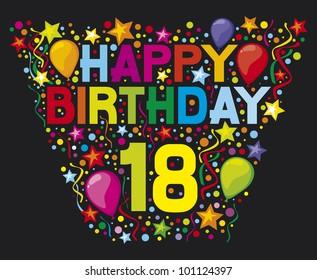 happy 18 th birthday design