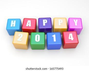 Happy 2014 calendar background