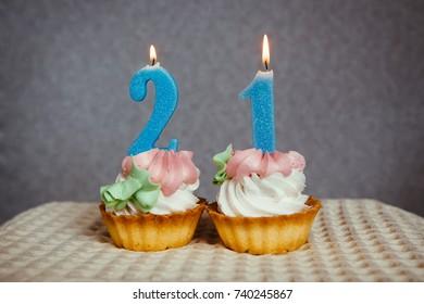 Anniversary Birthday Cakes Number 5 Golden Stock Photo Edit Now