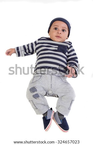 Happy 4 Months Old African American Stock Photo Edit Now 324657023