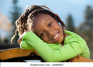 Happy African American Child