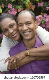 Happy African American couple spending time together