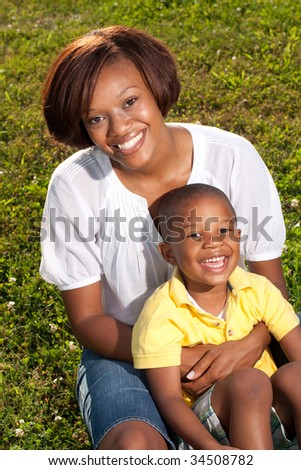 Happy African American Mom Poses Her Stock Photo Edit Now 34508782