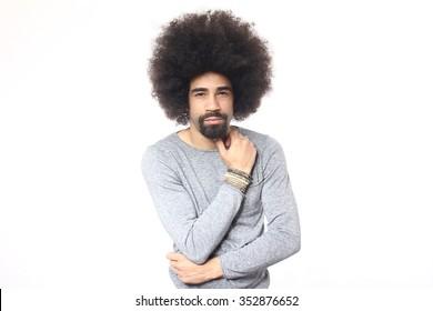 Happy Afro Man