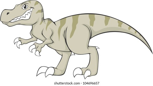 Happy Aliosaurus Dinosaur Cartoon