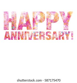 Happy Anniversary - White Background