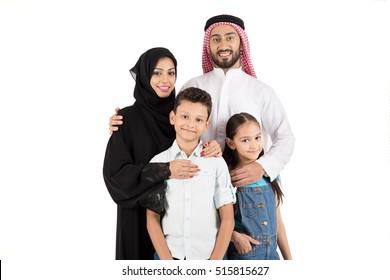 Happy Arab family