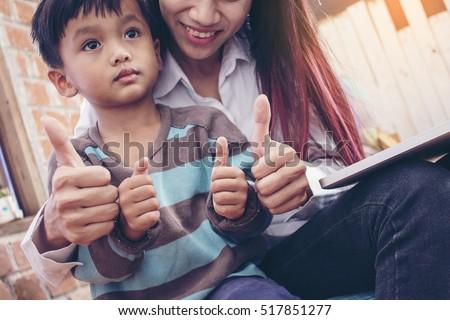 Asian mom thumbs