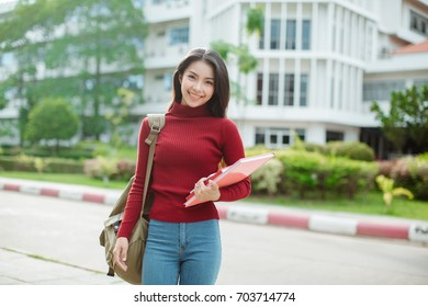 Happy Asian student,Education concept