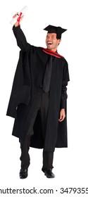 Happy attractive boy celebrating his graduation