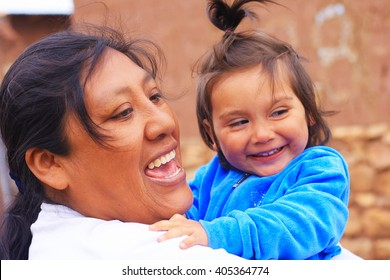 Happy aymara family