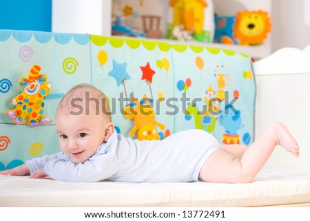 Happy Baby Boy 4 Months Old Stock Photo Edit Now 13772491