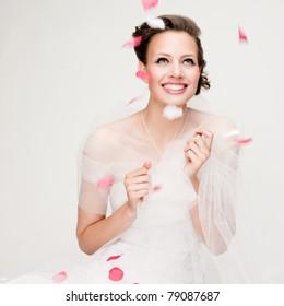 Happy beautiful bride
