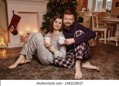 Happy beautiful family is waiting for Christmas