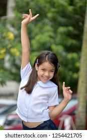 Happy Beautiful Minority Female Adolescent