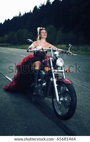 Happy Biker Cross Processed Colors Stock Photo Edit Now 65681464