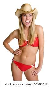 Happy Bikini Girl