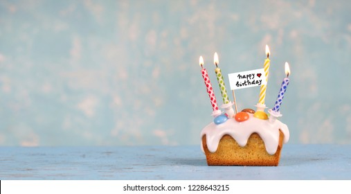happy birthday - cake with candles