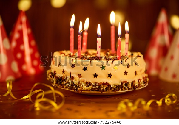 Miraculous Happy Birthday Cake Candles Stock Photo Edit Now 792276448 Personalised Birthday Cards Paralily Jamesorg