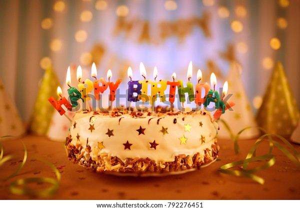 Surprising Happy Birthday Cake Candles Stock Photo Edit Now 792276451 Birthday Cards Printable Benkemecafe Filternl