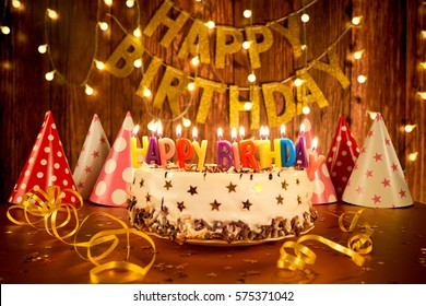 Happy Birthday Cake Images, Stock Photos & Vectors | Shutterstock