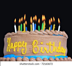 Awesome Birthday Cake With Lots Of Candles Images Stock Photos Vectors Funny Birthday Cards Online Hetedamsfinfo