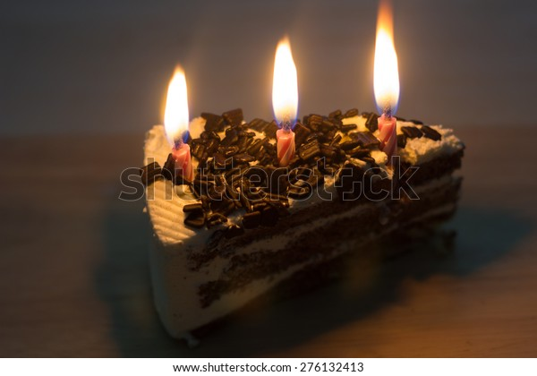 Peachy Happy Birthday Cake Shot Candles Stock Photo Edit Now 276132413 Birthday Cards Printable Trancafe Filternl