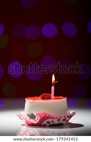 Happy Birthday Cake Shot On Red Stock Photo Edit Now 179241452